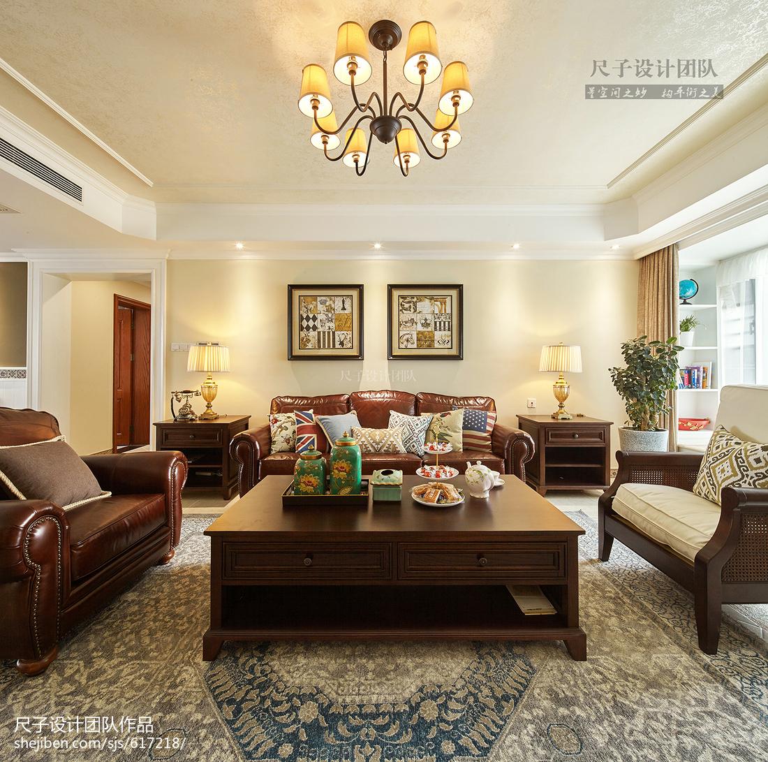 经典美式风格客厅设计效果图