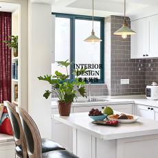 2018精选面积106平美式三居厨房装修效果图片大全