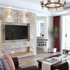 2018精选面积109平美式三居客厅装修欣赏图片