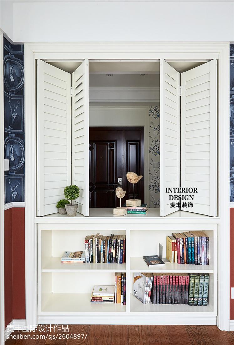 家居美式风格书架装修案例