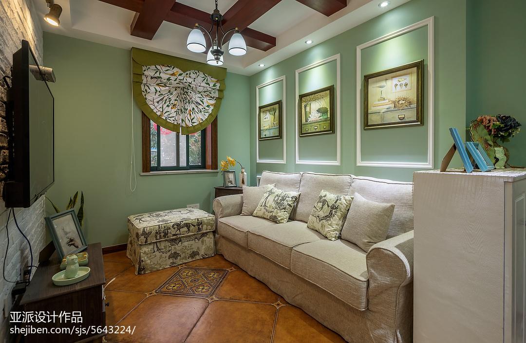 精选大小108平美式三居客厅装修图片