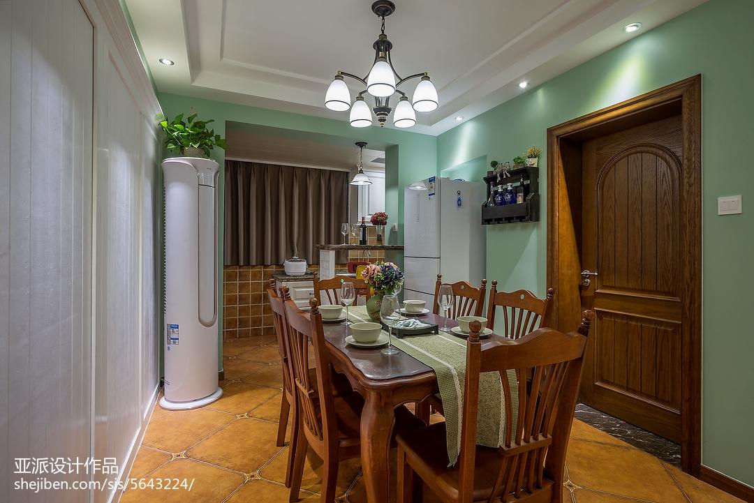 面积100平美式三居餐厅装修设计效果图片大全
