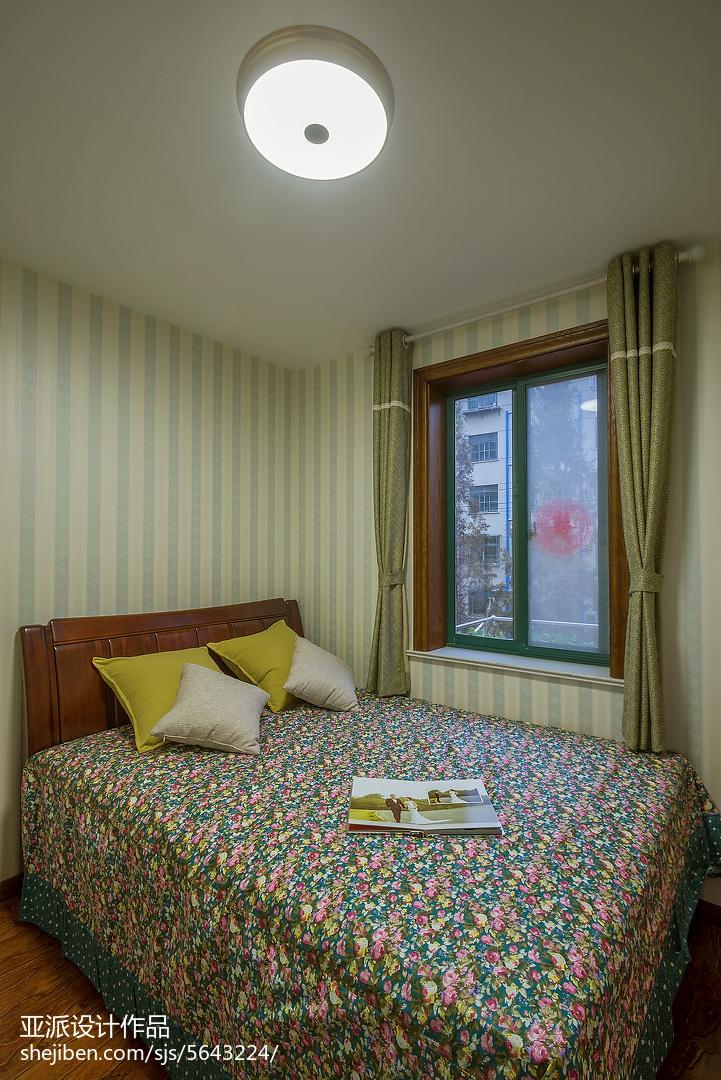 98平米三居卧室美式效果图片欣赏