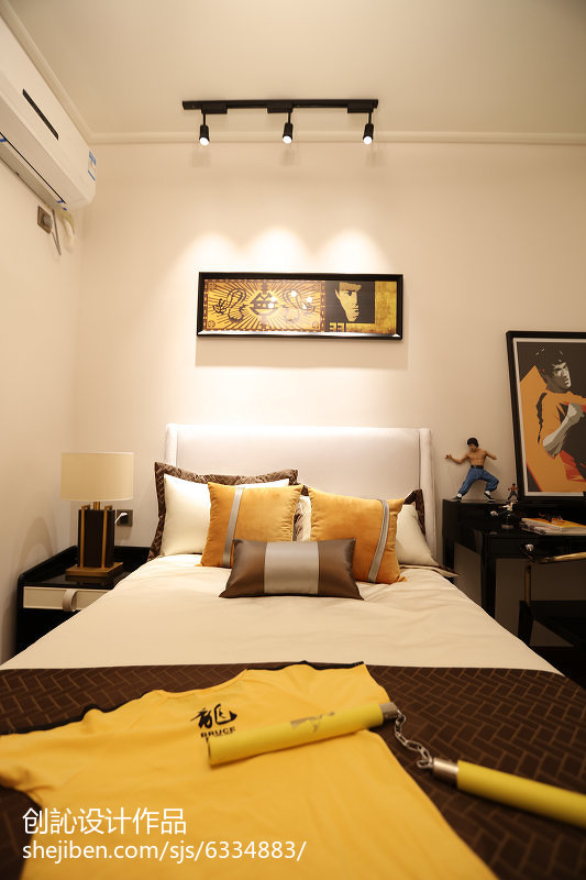 简约家居公寓室内卧室装饰效果图