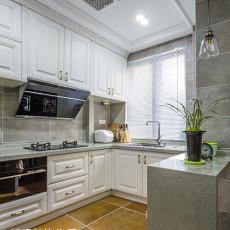 2018141平米四居厨房美式装修图片欣赏