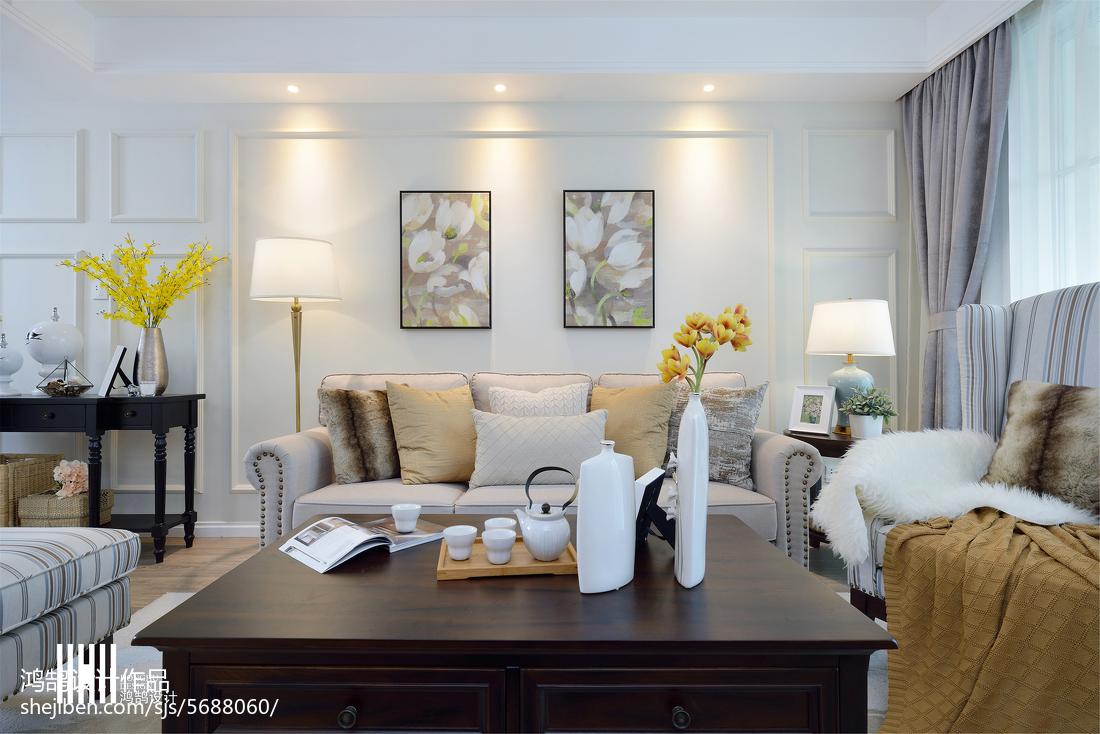 热门106平方三居客厅美式装修设计效果图