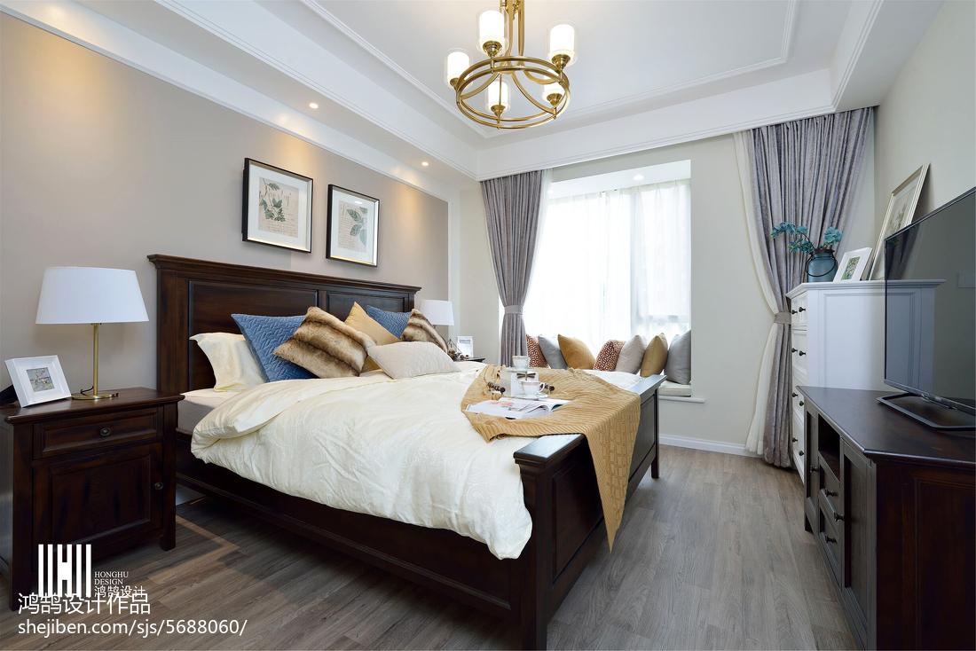 精美三居卧室美式实景图片大全