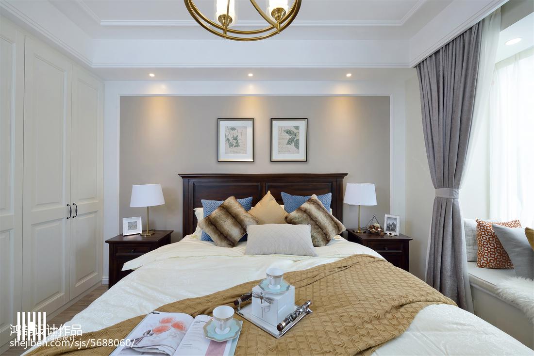 精美美式三居卧室欣赏图片大全