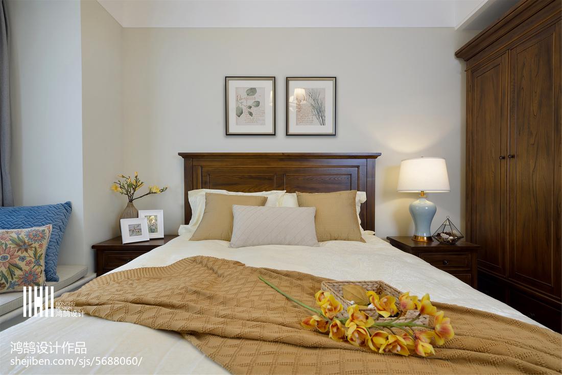 94平米三居卧室美式装饰图片大全