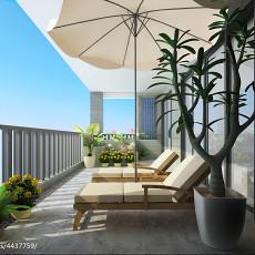 144平米东南亚别墅阳台装修实景图片大全
