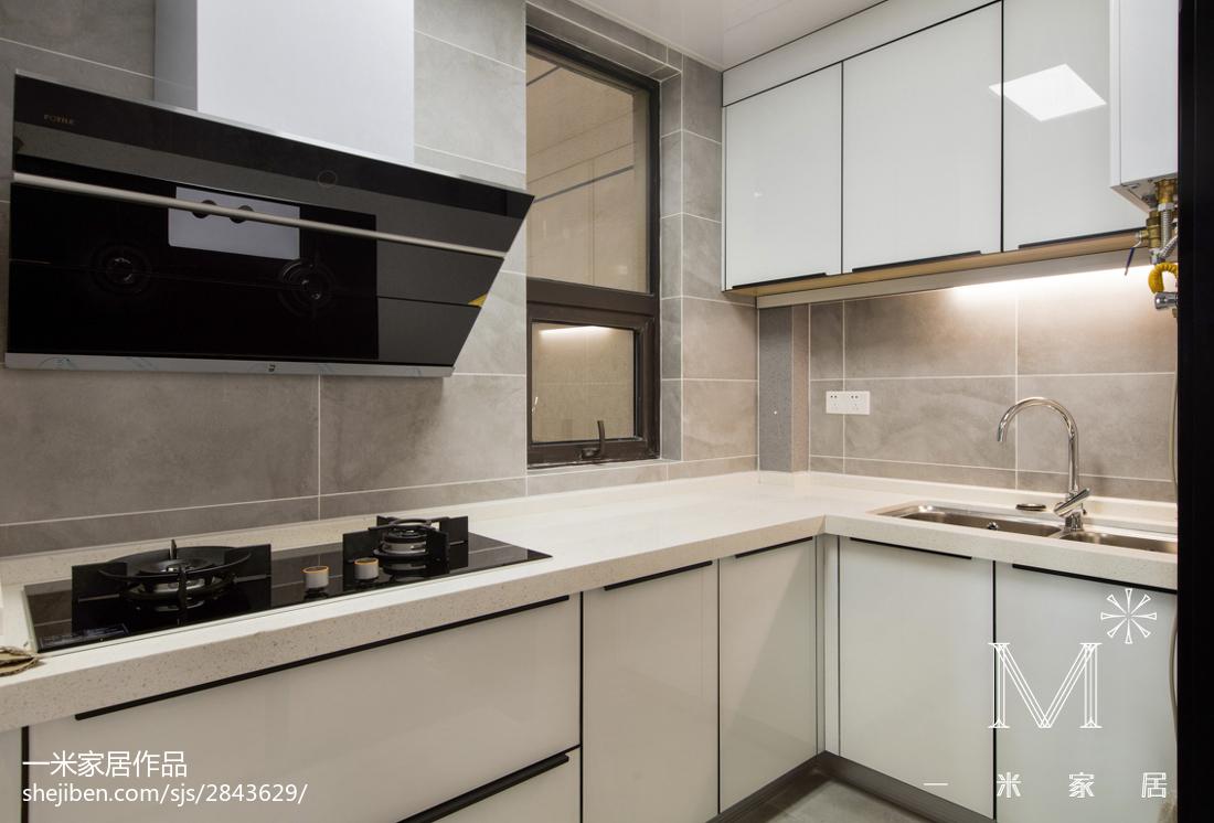 精美103平米三居厨房北欧装修实景图片大全