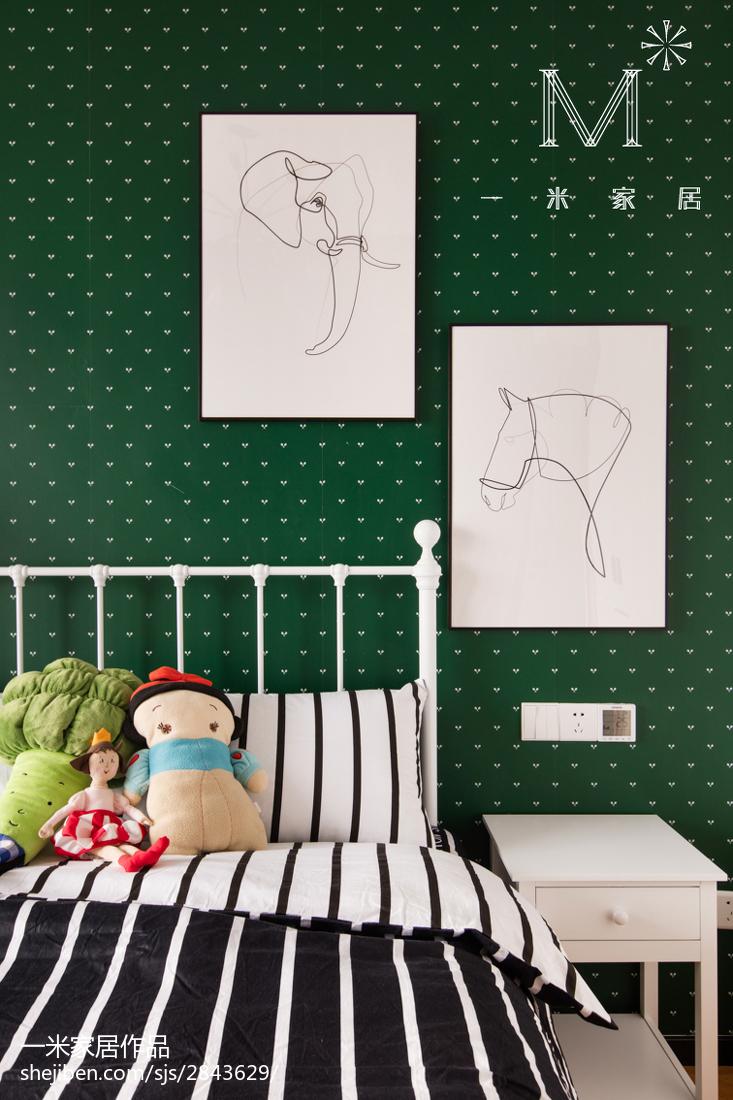 温馨76平北欧三居儿童房装修效果图