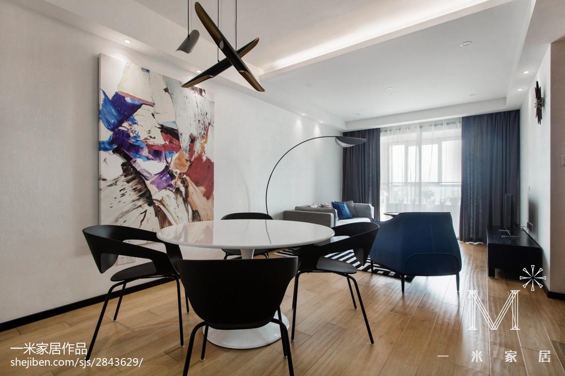 面积93平北欧三居餐厅装修设计效果图片大全