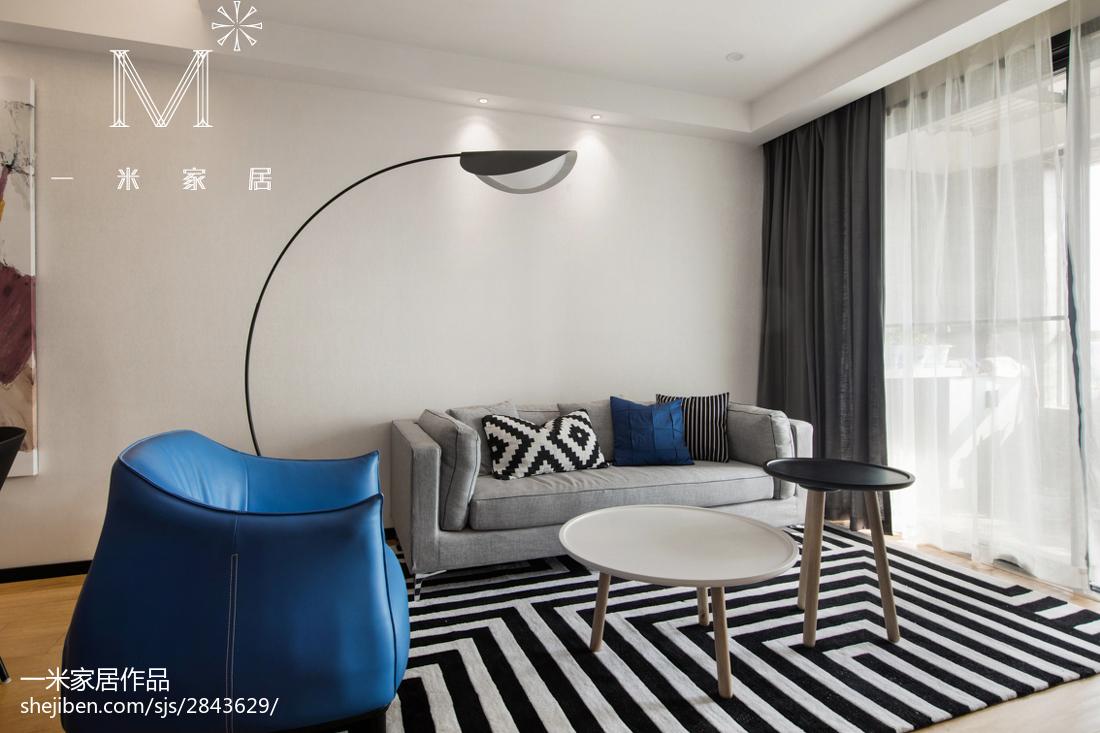 2018精选105平米三居客厅北欧欣赏图