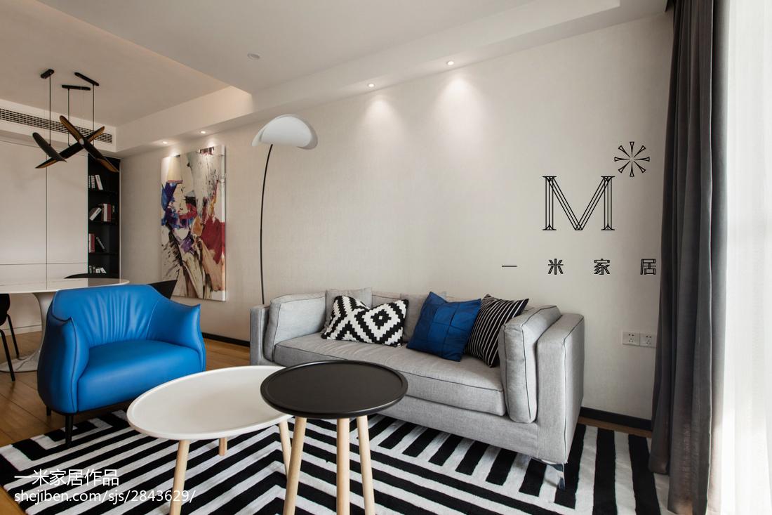 精选97平米三居客厅北欧装饰图片欣赏
