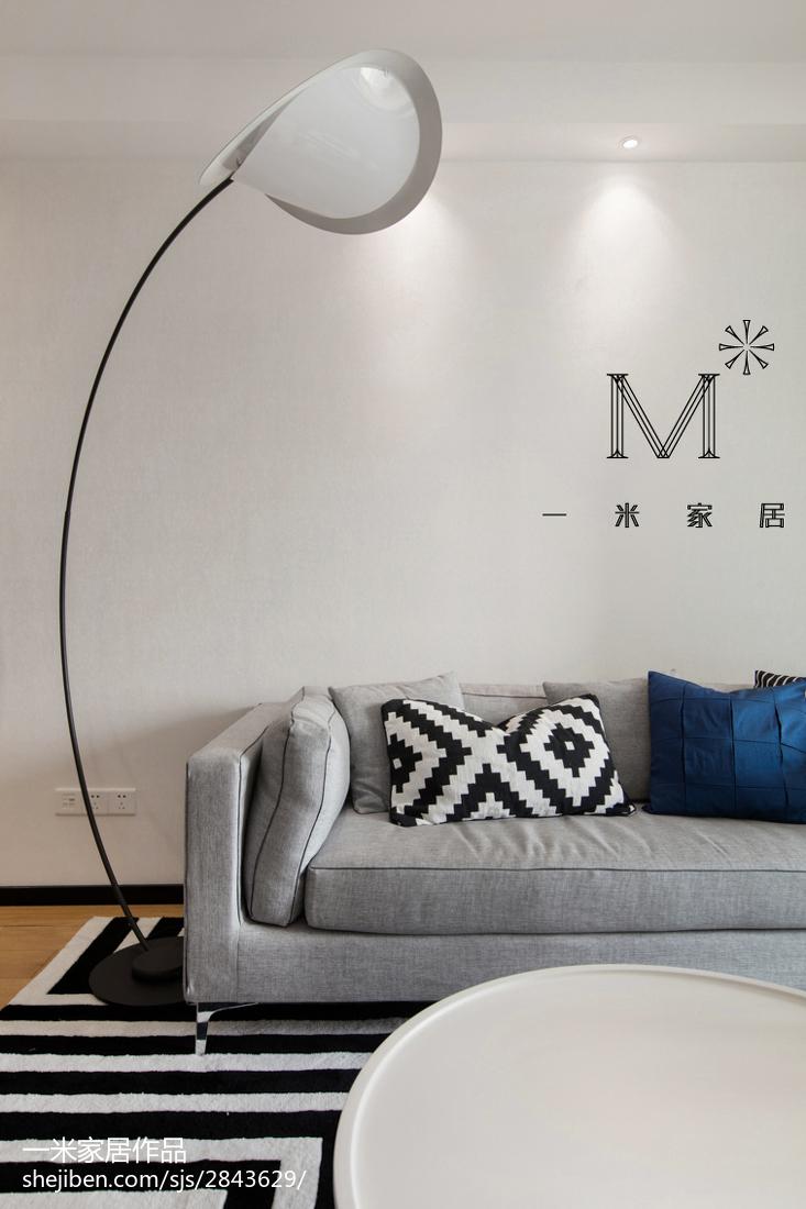 热门面积106平北欧三居客厅设计效果图