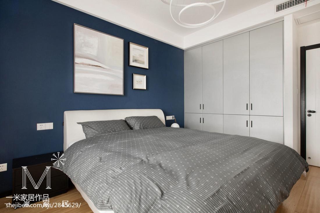2018107平米三居卧室北欧欣赏图片