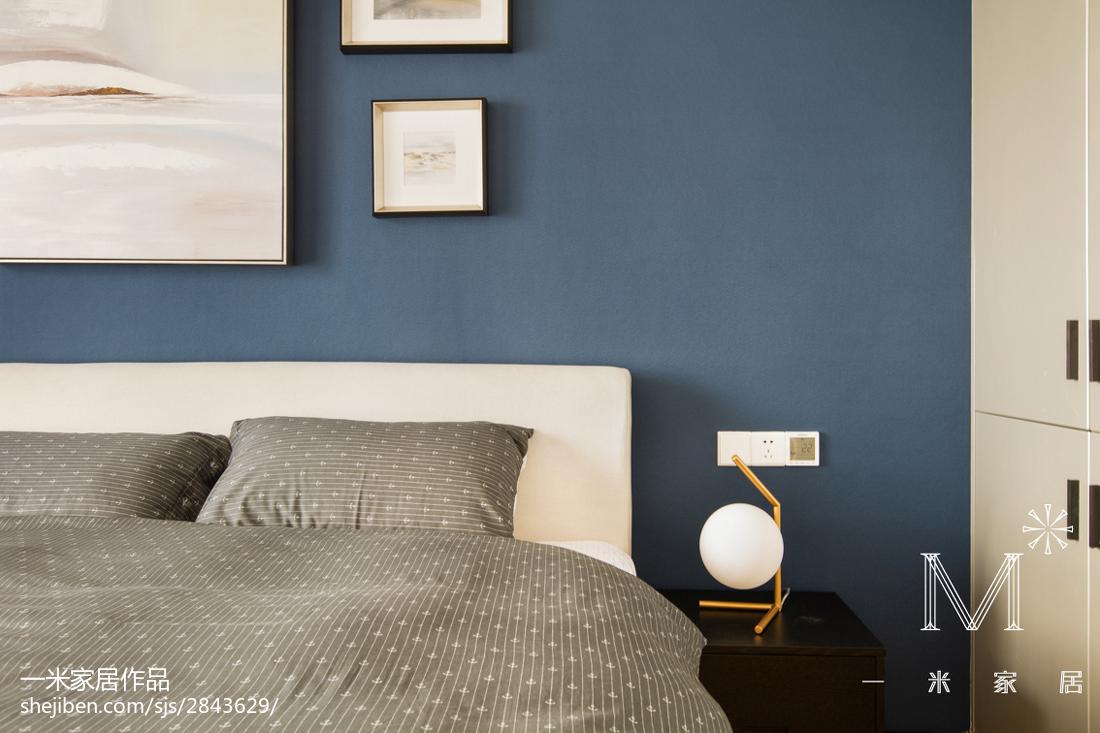 面积102平北欧三居卧室效果图片大全