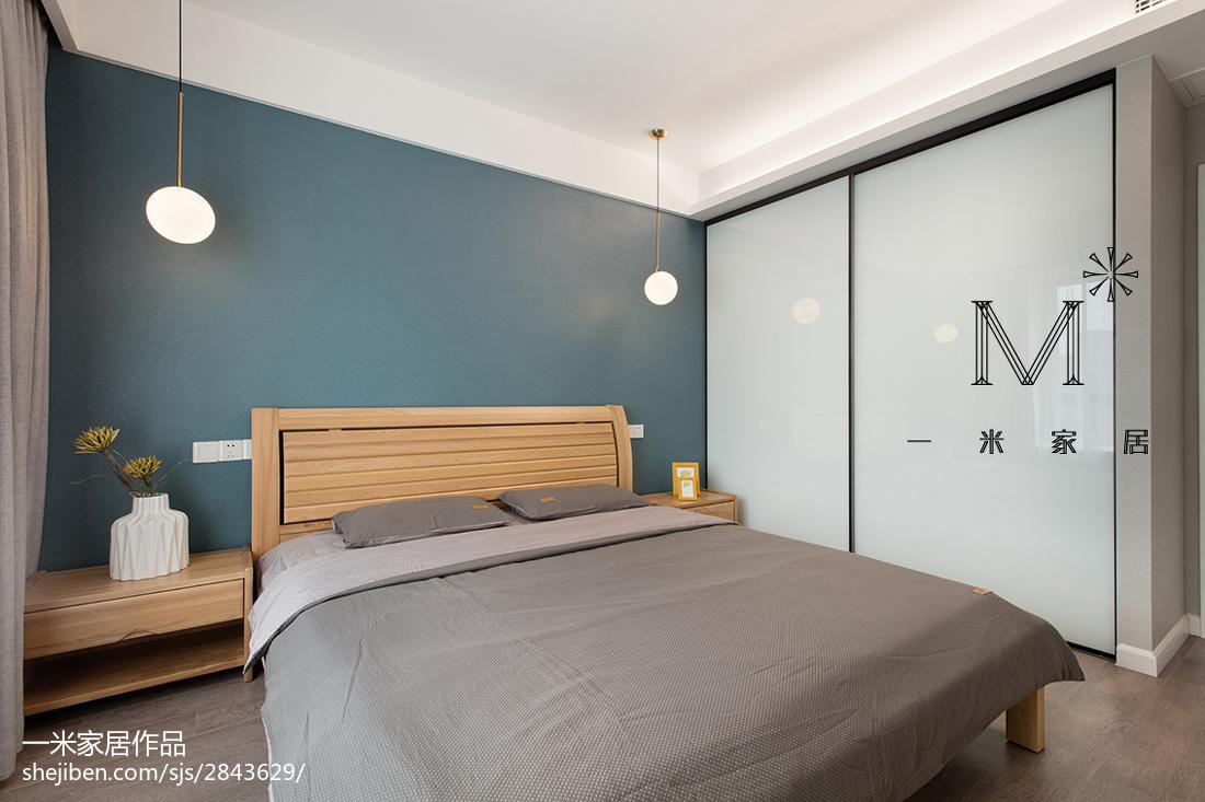 2018面积94平现代三居卧室装修欣赏图