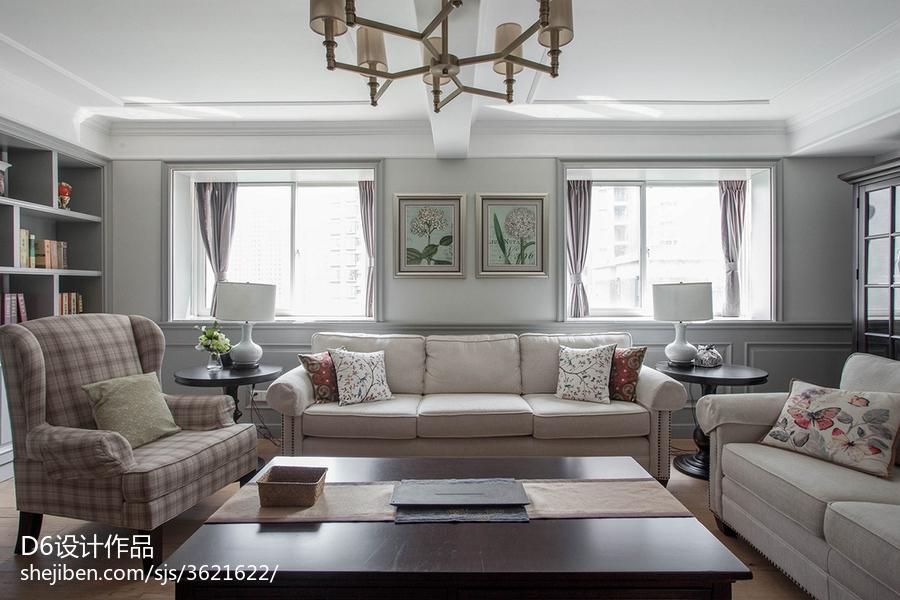 温雅美式客厅装修案例
