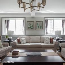 2018精选123平米四居客厅美式装修实景图片大全