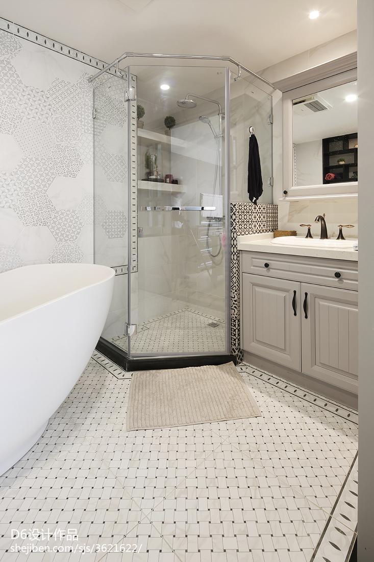 精致美式卫浴装饰图