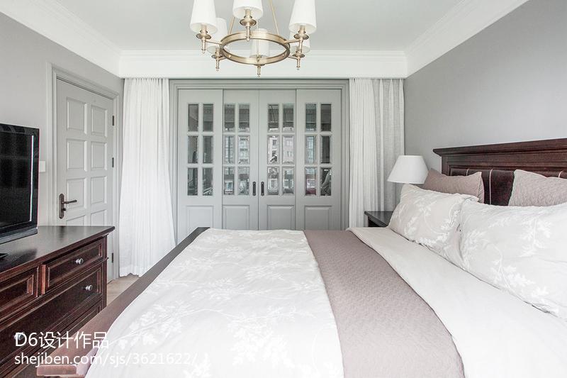 隽雅美式四居室卧室效果图