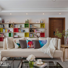 精选124平米四居客厅北欧装修实景图片