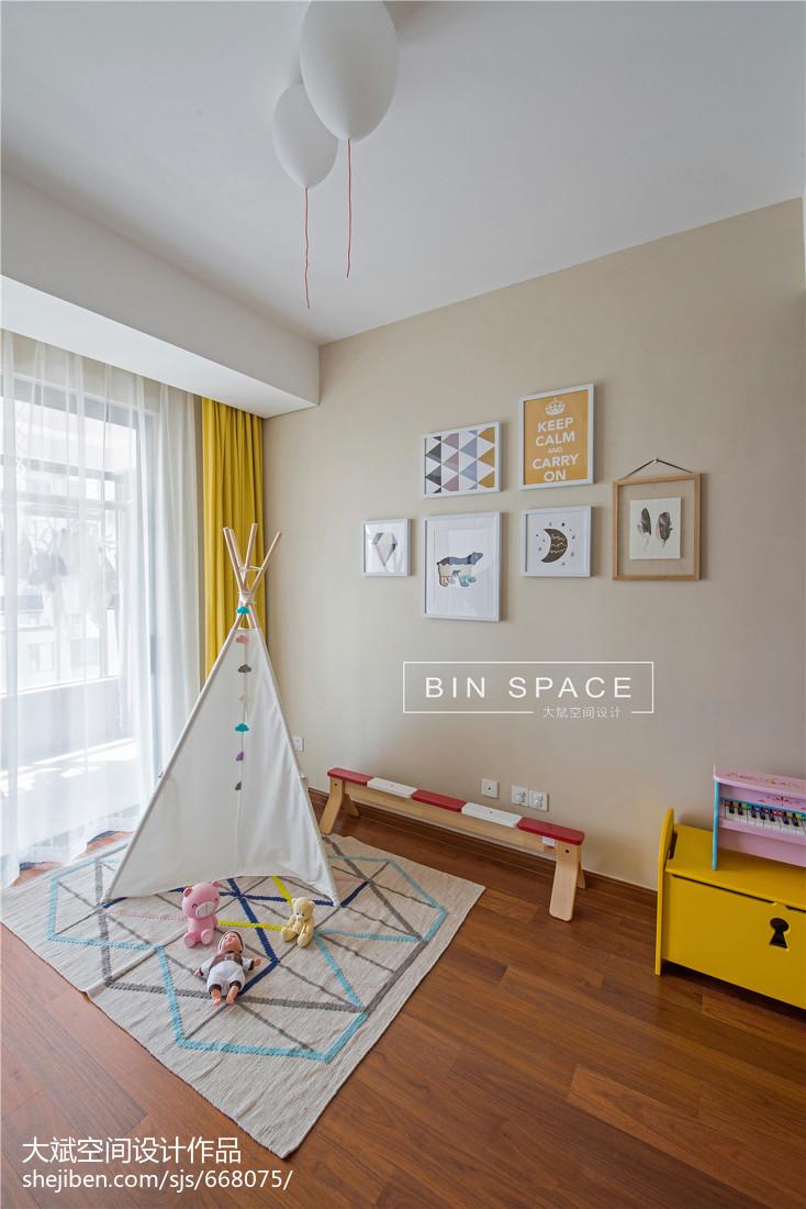 2018精选面积140平北欧四居儿童房装修设计效果图片