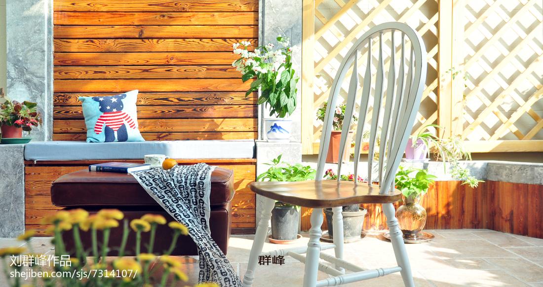 精选面积129平复式阳台美式装修欣赏图片