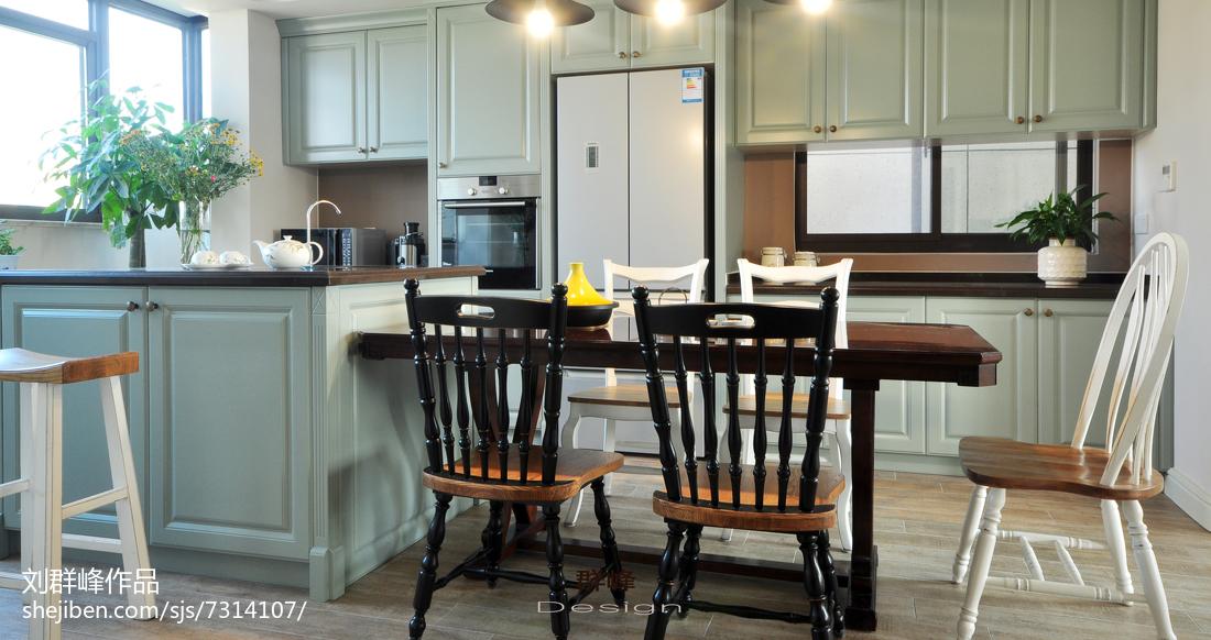 热门129平米美式复式厨房效果图片