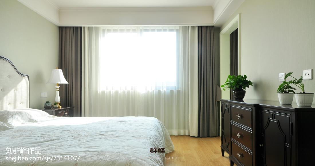 2018精选面积115平复式卧室美式欣赏图