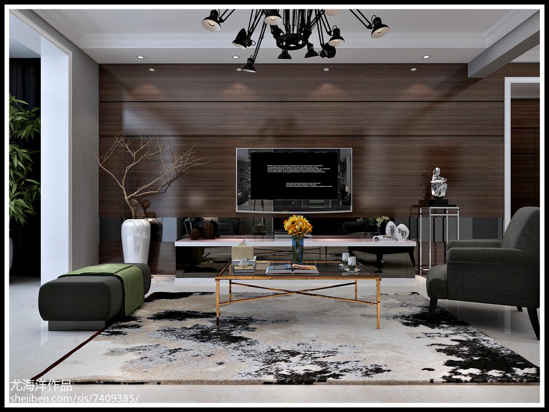 简约风格现代装潢设计二居室