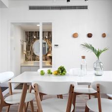 2018面积100平北欧三居餐厅装饰图片