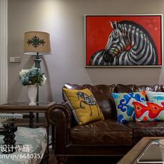 精美123平米四居客厅美式装修效果图片大全