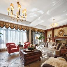 面积144平复式客厅美式欣赏图片大全