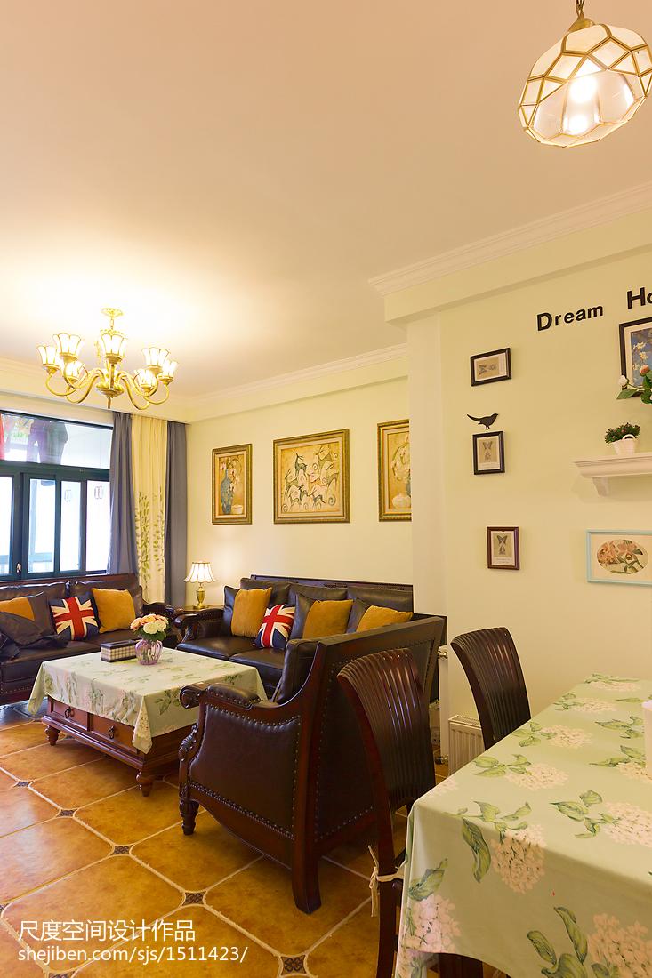 热门大小96平美式三居客厅设计效果图