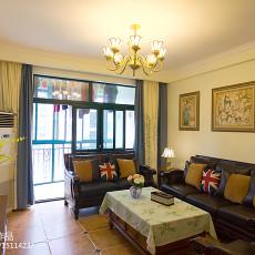 精选90平方三居客厅美式装饰图片欣赏