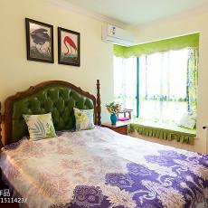 热门105平米三居卧室美式实景图