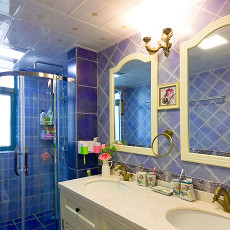 精美美式三居卫生间装修欣赏图片大全