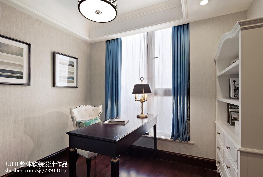 质朴108平美式三居书房装修装饰图