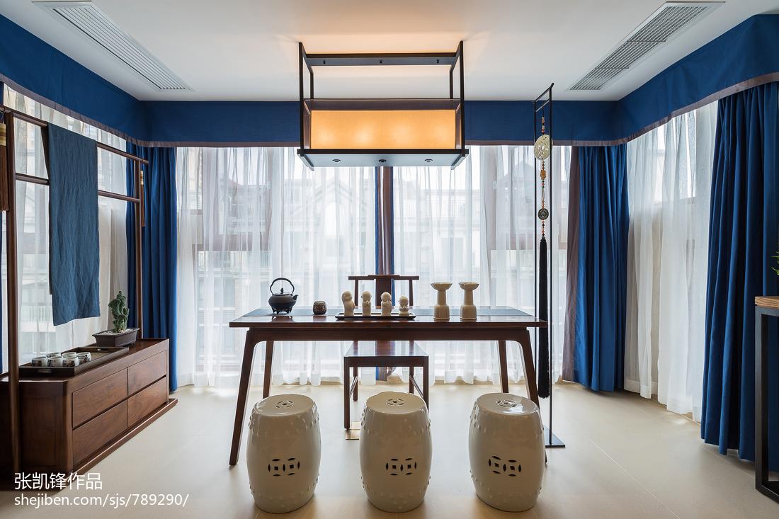 明亮175平中式三居休闲区装修设计图