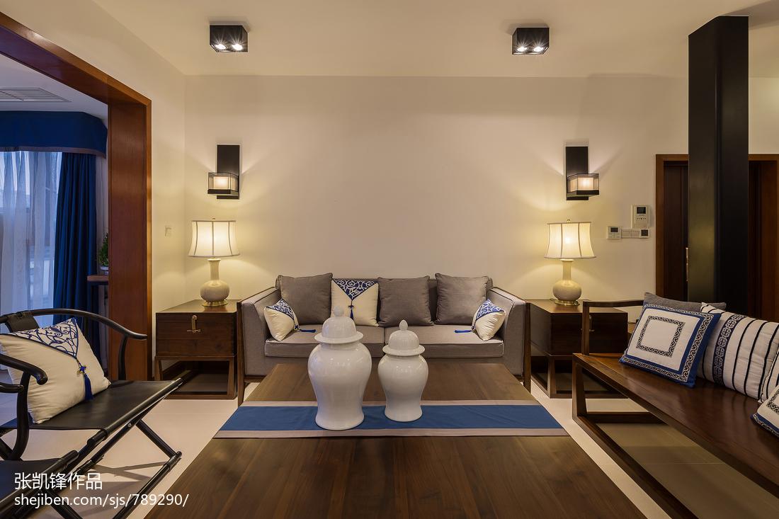 大小106平中式三居客厅装修欣赏图片