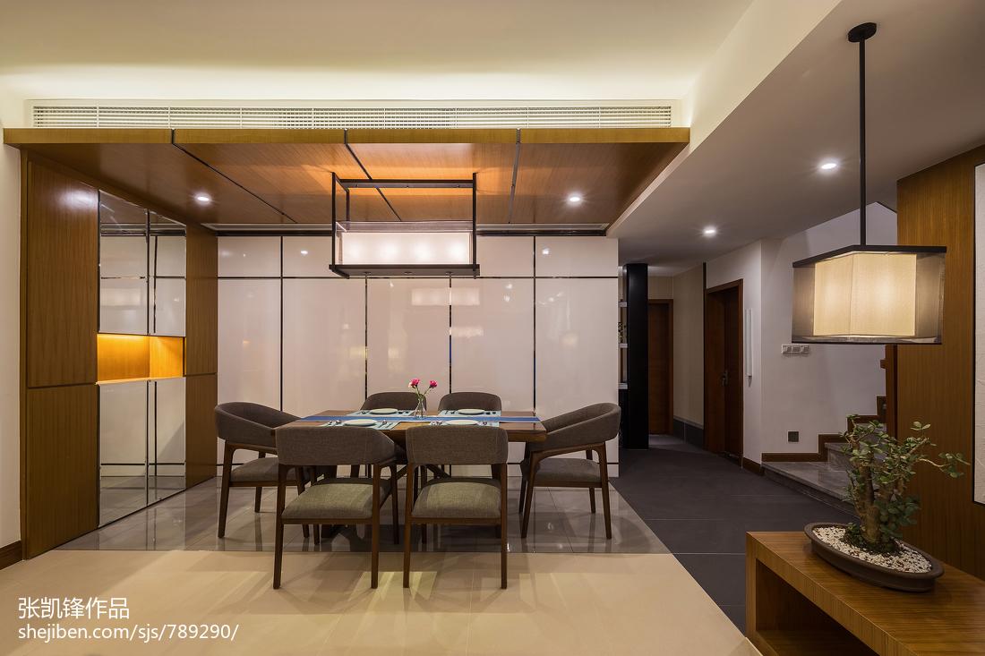 2018107平米三居餐厅中式装修设计效果图片