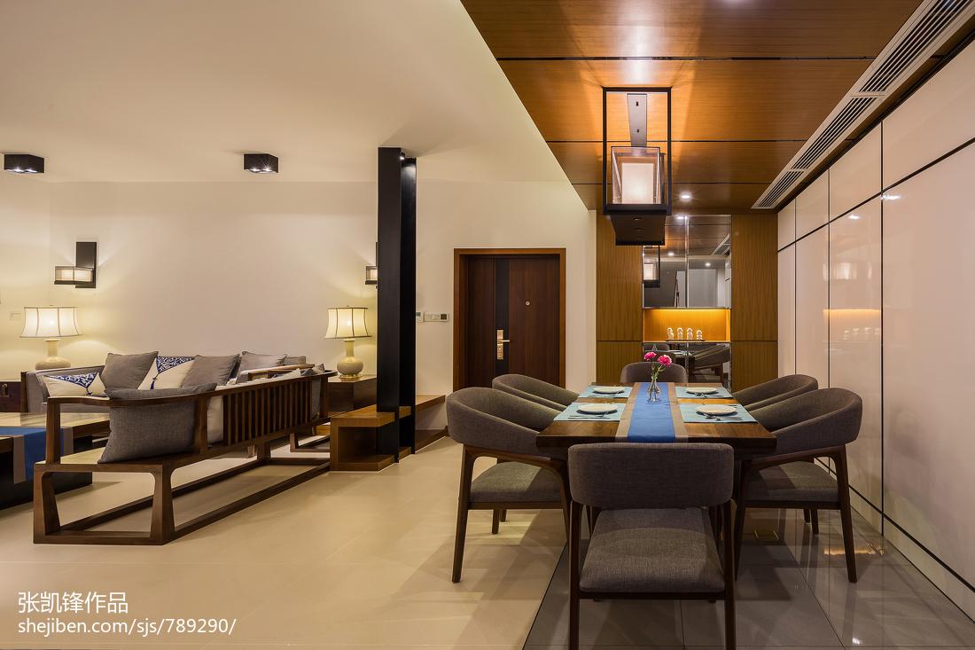 精美面积96平中式三居餐厅装修欣赏图片大全