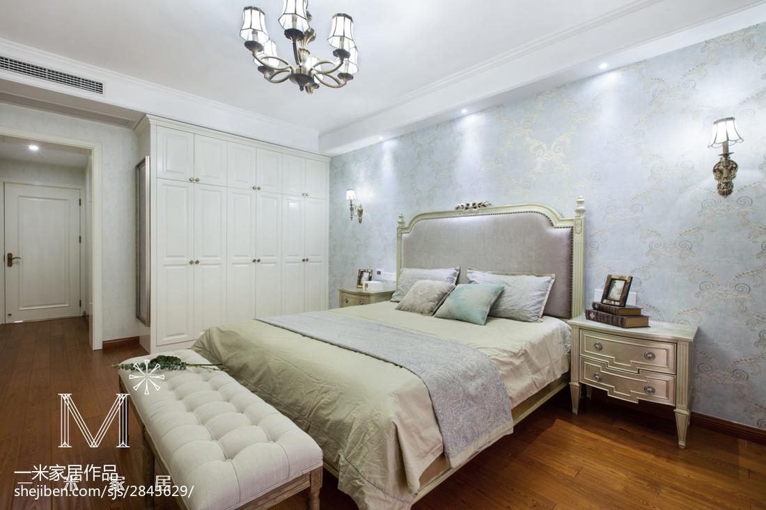 热门100平米三居卧室美式实景图片大全