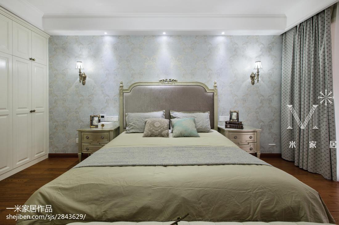 精美92平米三居卧室美式设计效果图