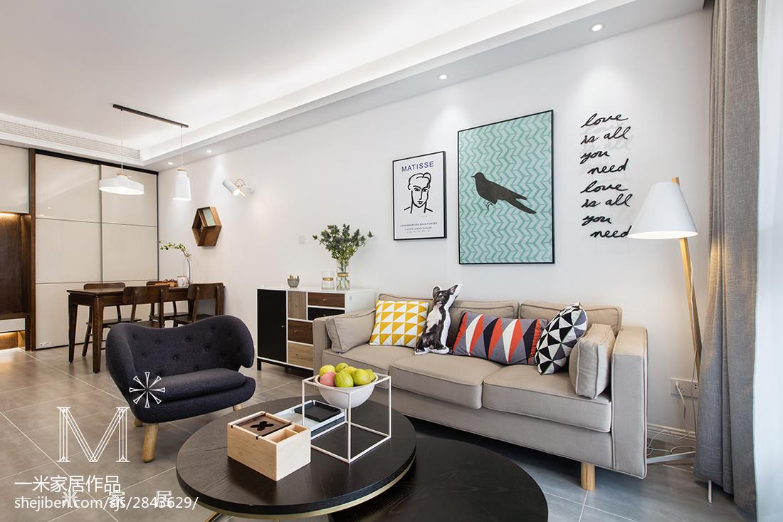 热门面积98平北欧三居客厅装修图