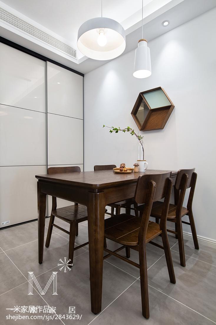 热门108平米三居餐厅北欧装修图片大全