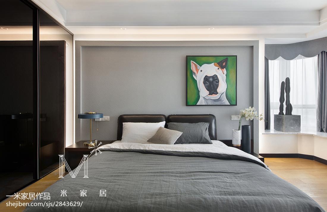 热门141平米四居卧室现代装修实景图片大全